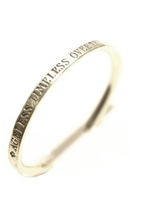 HARIM concept bangle Silver (FRONT STAMPS)
