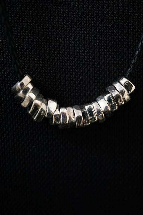 【受注生産モデル!】Rock Beads Necklace W SV