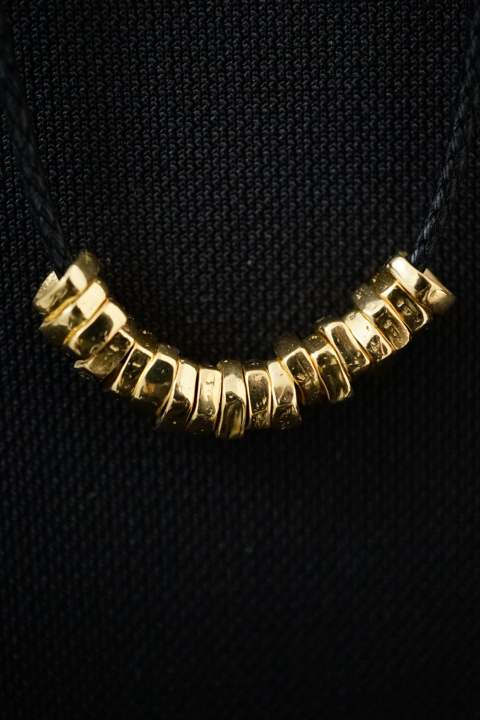 【受注生産モデル!】Rock Beads Necklace W 18K Gold coating