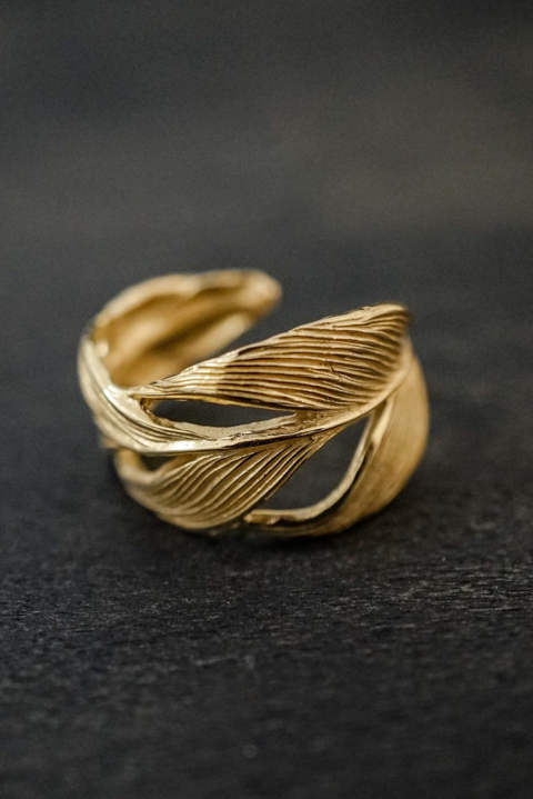 【受注生産モデル!】Owl Feather ring K18coating