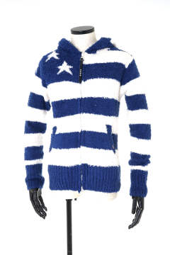 【即日発送可能!】SHAGGY BOA US FLAG KNIT PARKA