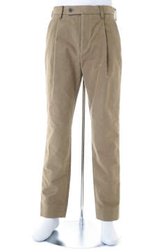 GIZA MOLESKIN ONE TUCK TAPERED  TROUSERS【即日発送可能!】