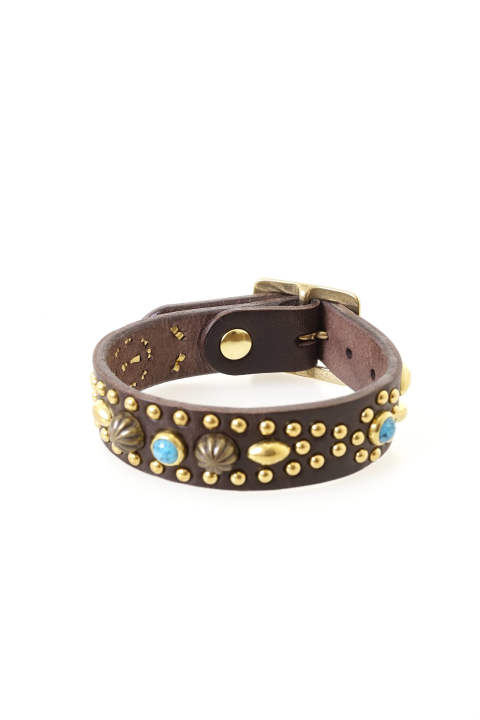 TMT×Vin&Age STUDS LEATHER BRACELET【即日発送可能!】