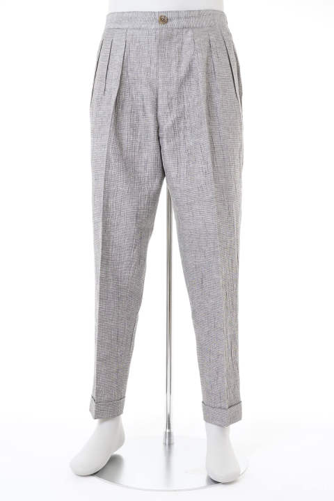 WASHER LINEN EASY TROUSERS【即日発送可能!】