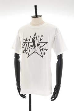 【即日発送可能!】PIGMENT DYED JERSEY T-SHIRT #GIRL STAR
