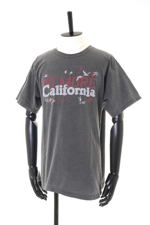 PIGMENT DYED JERSEY T-SHIRT #NO MORE CALIFORNIA【即日発送可能!】