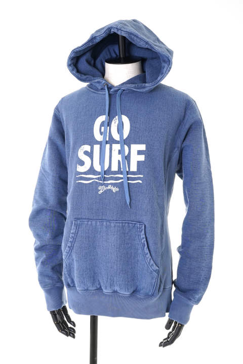 CHAMPION HEAVYWEIGHT PIGMENT DYED HOODY #GO SURF【即日発送可能!】