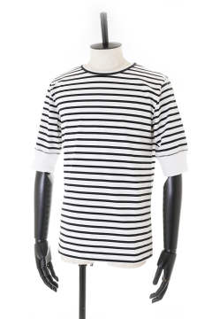 PARALLELED YARN HIGH GAUGE HALF SLEEVE TEE (5分袖Tシャツ)【即日発送可能!】