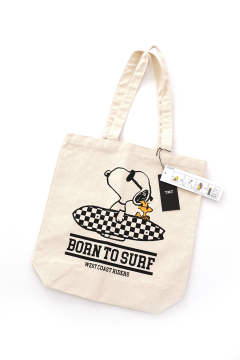 PEANUTS×TMT CANVAS TOTEBAG (BORN TO SURF)【即日発送可能!】
