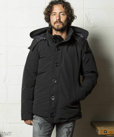 COTTON-NYLON GROSGRAIN DOWN COAT(TJKF1810)【即日発送可能!】