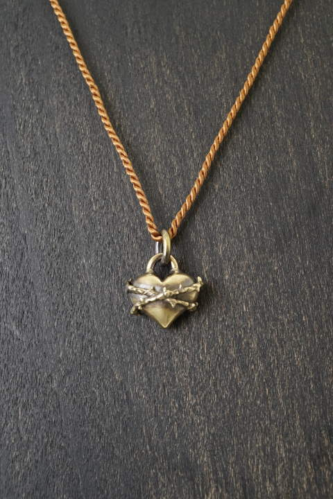 romanesque heart Brass and silk【即日発送可能!】