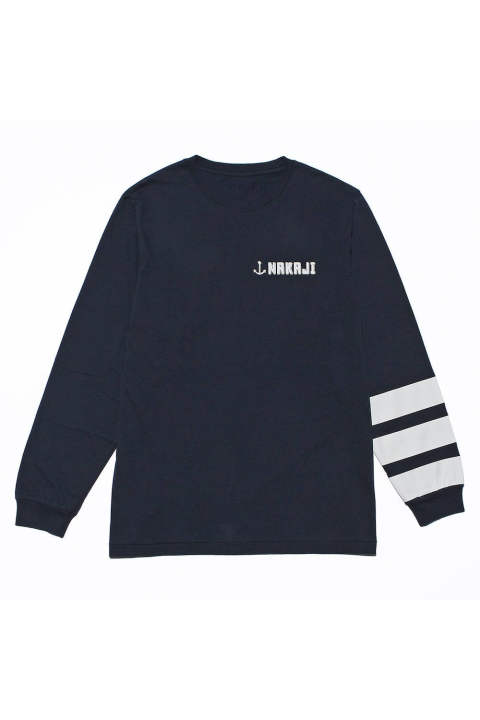 l/S ROUND NECK T-SHIRT(3LINES)(9月~10月入荷予定)