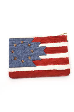 NATIVE U.S.FLAG CLUTCH BAG(TBAF1802)【即日発送可能!】