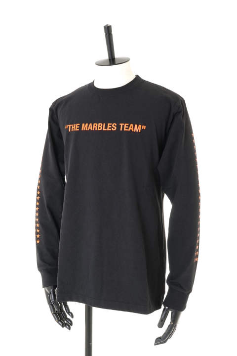 L/S HEAVY TEE #THE MARBLES TEAM / クルーネック 長袖プリントTシャツ MST-A1802【即日発送可能!】